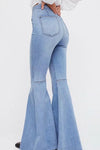 High Waist Raw Jeans Denim Pants - zdbwani