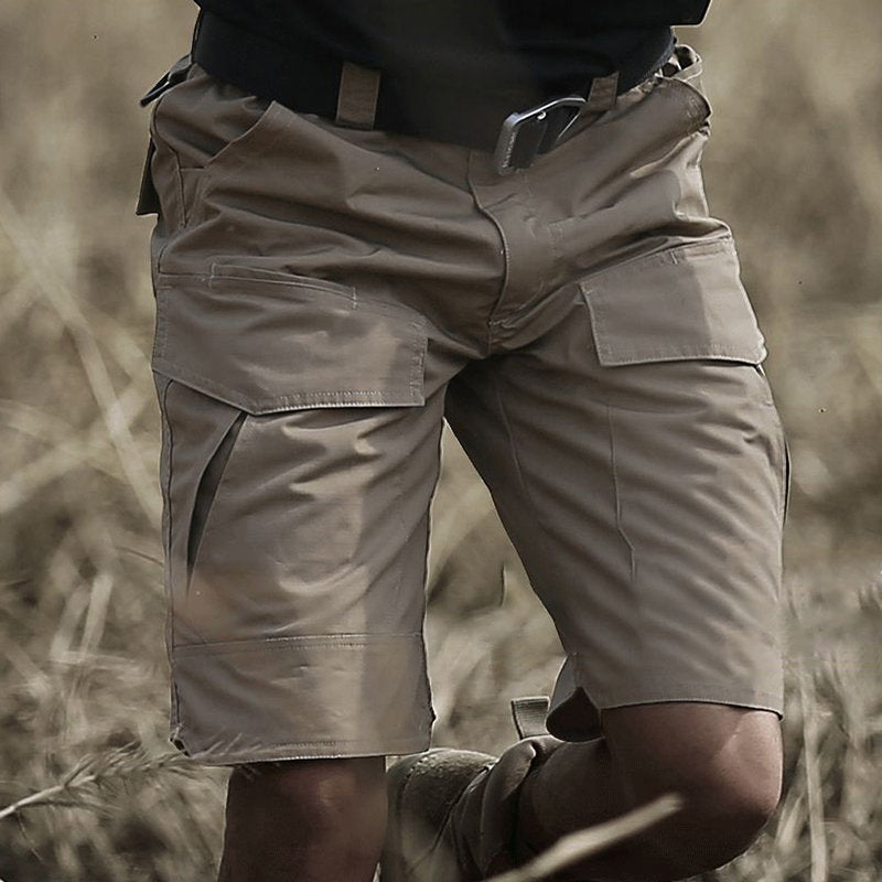 Mens Outdoor Muti-Pockets Cargo Shorts Water-repellent Tactical Pants Military Training Shorts