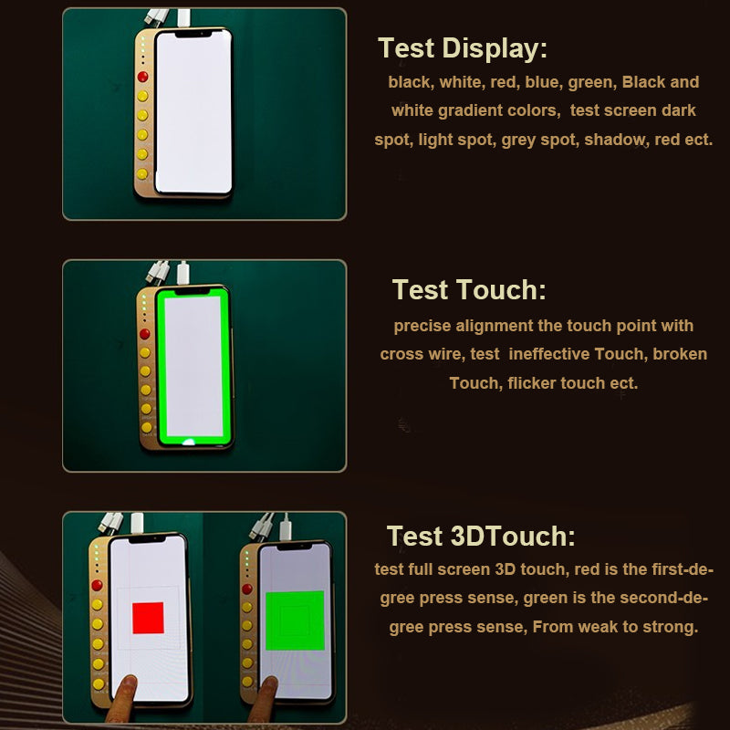 Novecel S1 LCD Tester  For iphone X Xs Max Xr LCD Display 3D Touch Screen Tester Box with PCB Testing Board LCD Tester Box Tools