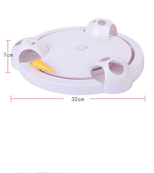 Smart Teasing Crazy Game Spinning Turntable  Automatic Turntable Cat Toy