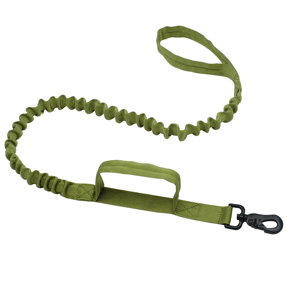 Military Tactical Dog Harness Vest Nylon Bungee Leash Lead Training Running For Medium Large Dogs German Shepherd