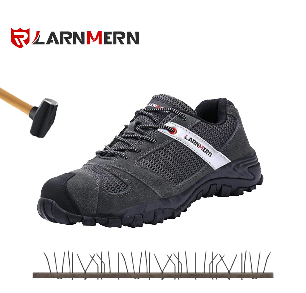 40%  OFF LARNMERN Work Shoes for Men, LM-18 Men's Steel Toe Safety Shoes Breathable