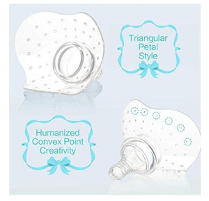Nipple Shield, Premium Contact Nippleshield for Breastfeeding with Latch Difficulties or Flat or Inverted Nipples, Non-Toxic, Made Without BPA