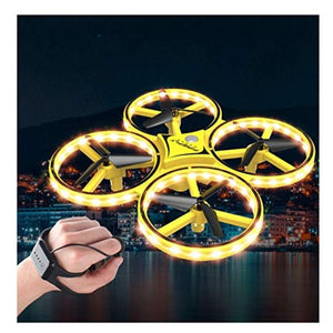 Gesture Control UFO Remote Control Bright LED Stunt Drone RC Quadcopter Toys Gravity Sensing Aircraft for Kids