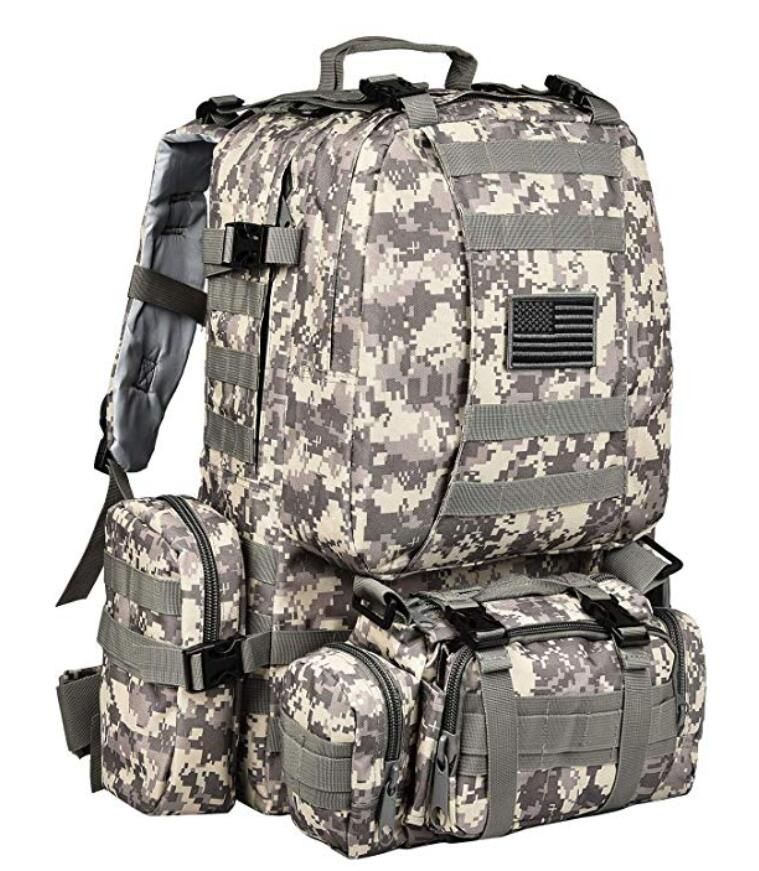 Built-up Military Tactical Backpack Army Rucksacks 3 Day Assault Pack Combat Molle Backpack Pouch for Hunting Trekking Camping Surplus Bug Out Bag