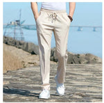 Men's Relaxed-Fit Linen Pant with Drawstring