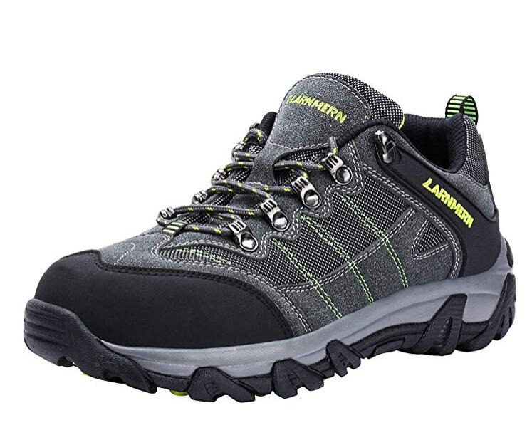 LARNMERN Steel Toe Shoes Men, Safety Work Reflective Strip Puncture Proof Footwear