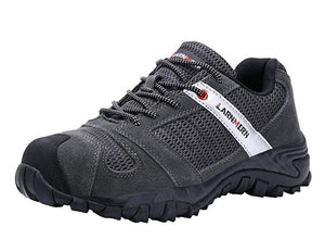 LARNMERN Work Shoes for Men, LM-18 Men's Steel Toe Safety Shoes Breathable