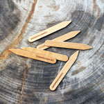 Curly Maple Wood Collar Stays