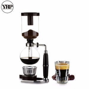 YRP Japanese Style Coffee Syphon Pot 3/5 cups Siphon Coffee Drip Kettle Vacuum Filter Pot Cafetera TCA-3/5 Syphon Coffee Maker