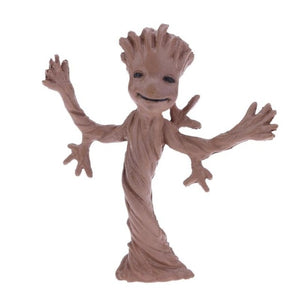 PVC Action Figure Galaxy Sitting Tree Man Toy Funny Collection Desktop Decor Gift