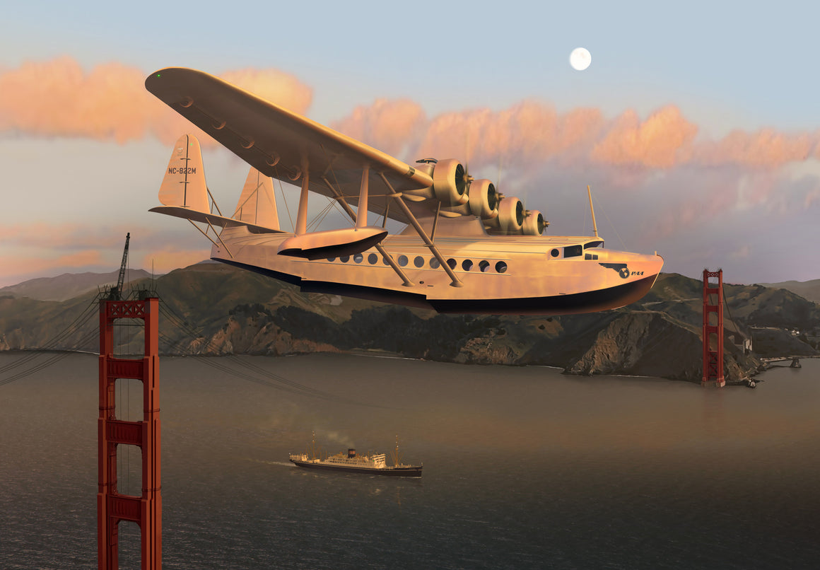 Pan Am Sikorsky S-42 Clipper over the Golden Gate Bridge - Cole's Aircraft - 1