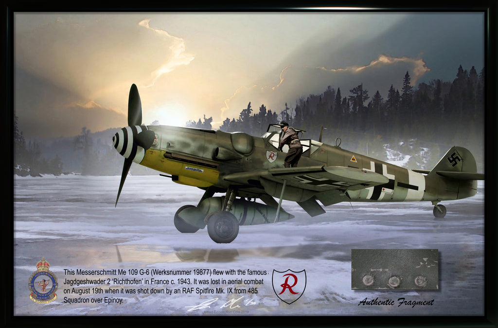 Luftwaffe Messerschmitt Bf 109 G-6 JG2 Combat Loss Relic Display
