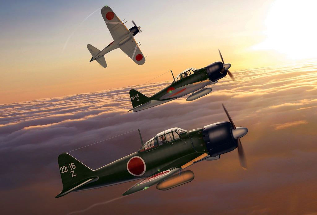 Japanese Navy A6M5 Zeros 221st NAG - Cole's Aircraft - 1