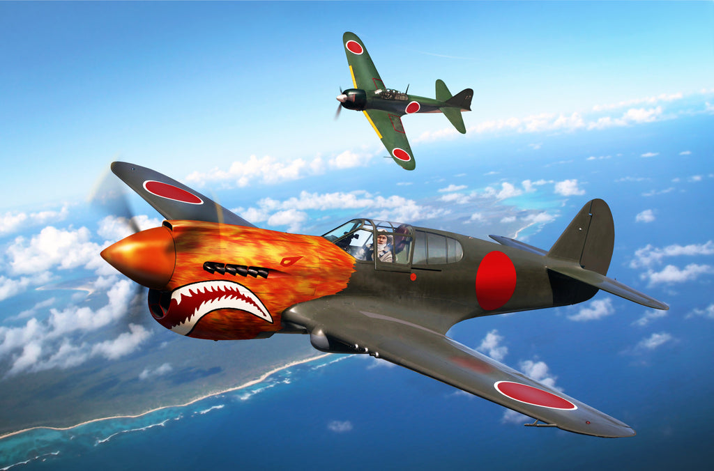 P-40E Warhawk in Captured Japanese Markings - Cole's Aircraft - 1
