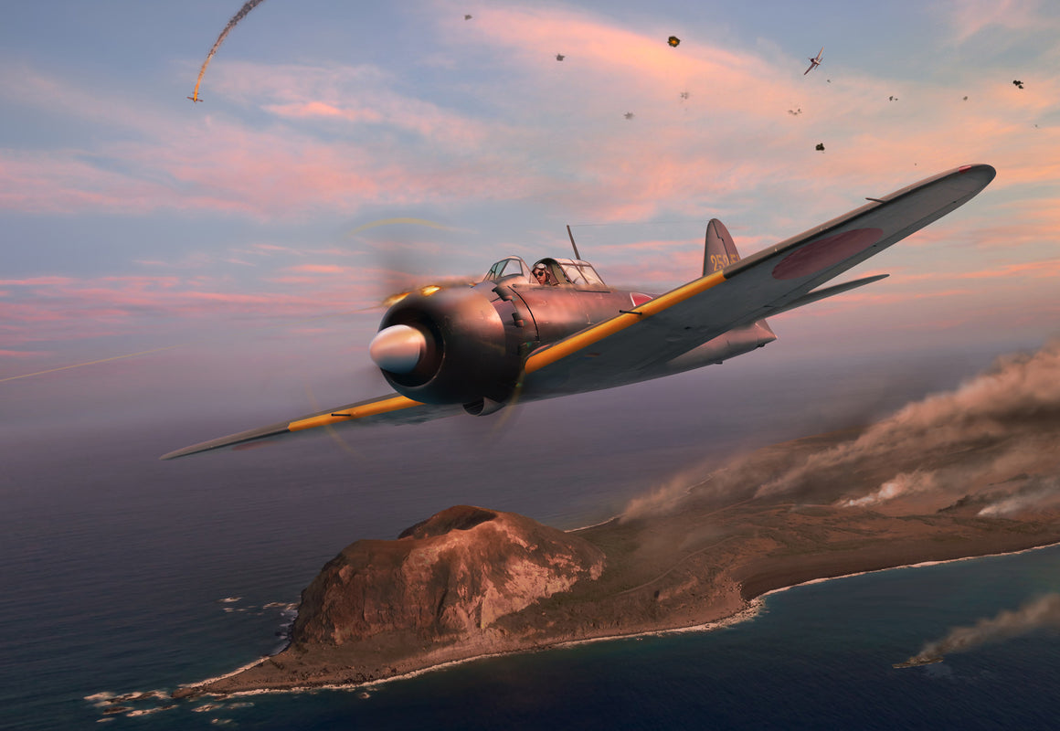 Japanese Navy A6M5 Model 52 Zero - Iwo Jima - Cole's Aircraft - 1