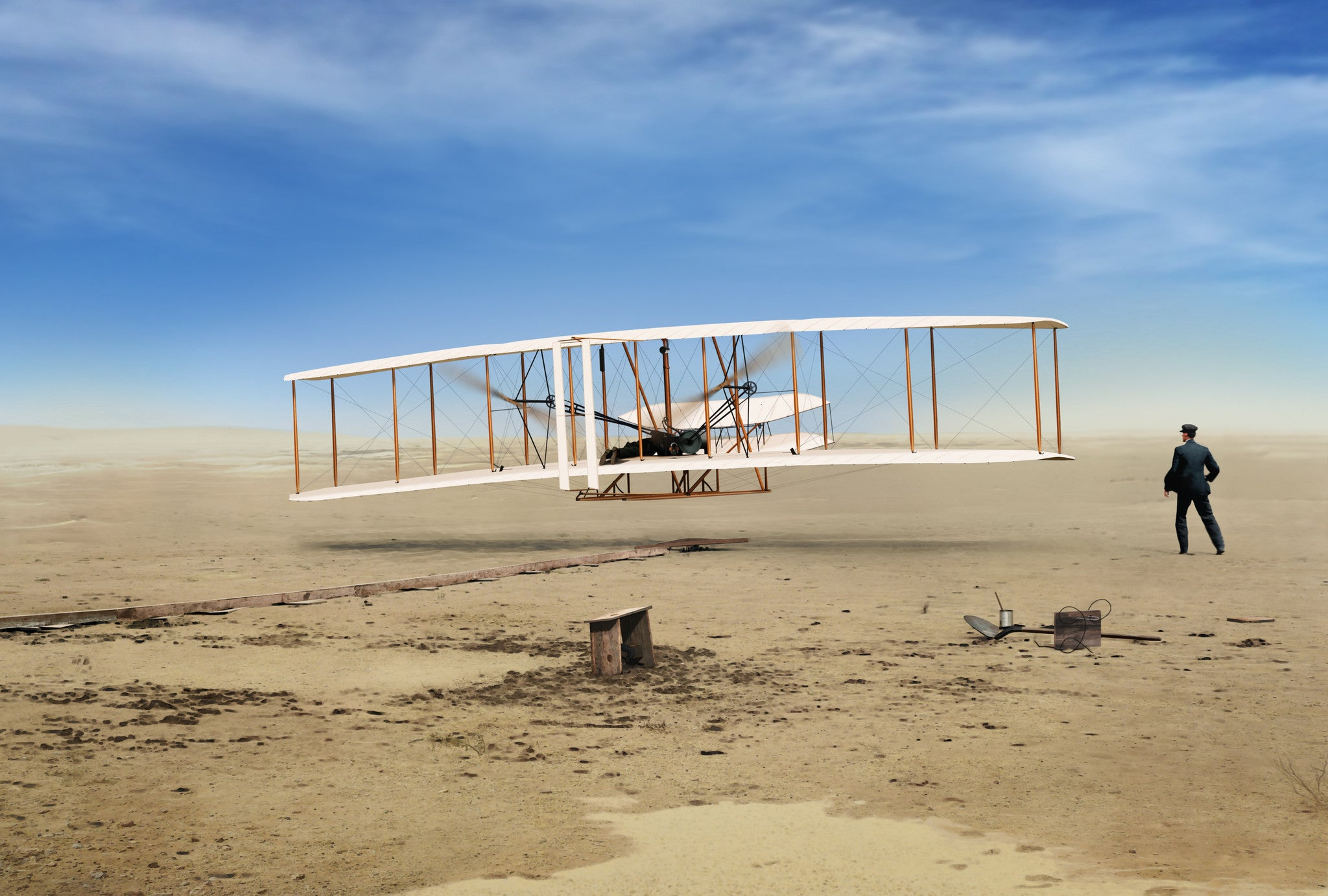 First Wright Brothers Flight with regard to first in flight - first flight of the wright flyer,ron cole