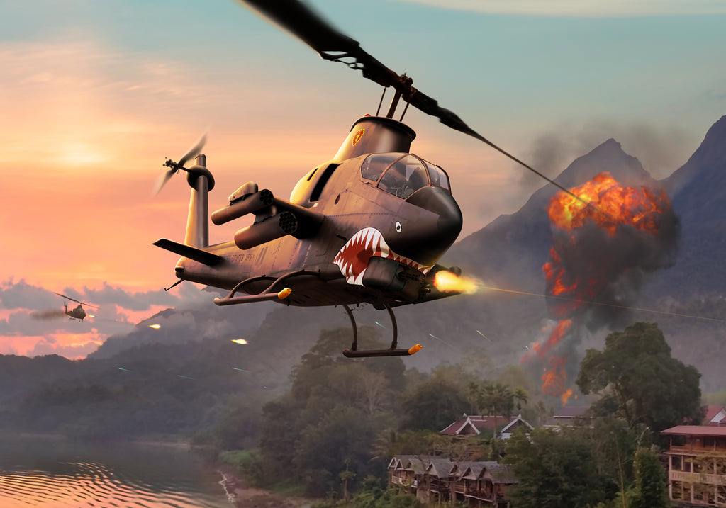 AH-1G Cobra Attack Helicopter in Vietnam, by Ron Cole