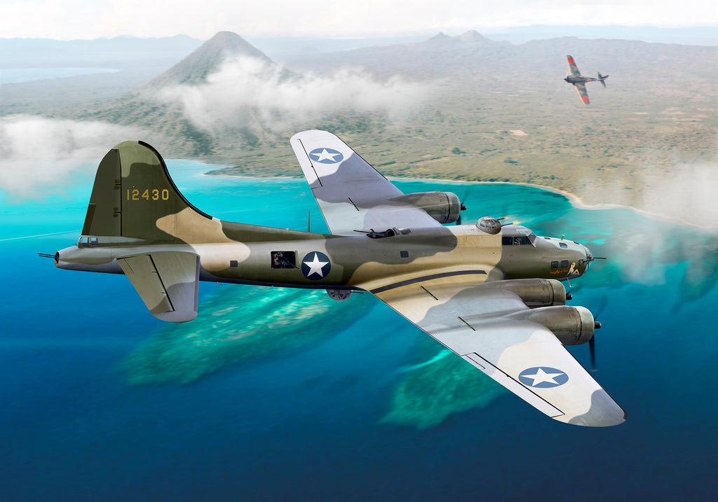 Boeing B-17E 'Naughty But Nice' Battle of the Bismarck Sea by Ron Cole
