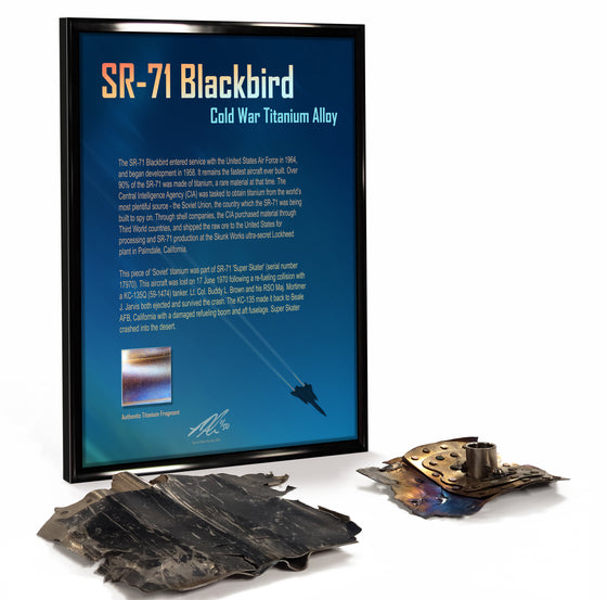 Lockheed SR-71 Blackbird Cold War Titanium Relic Display