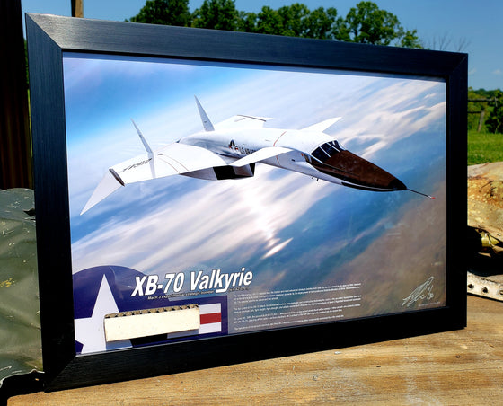 SPECIAL North American XB-70 Valkyrie Honeycomb Laminate Skin Relic Display