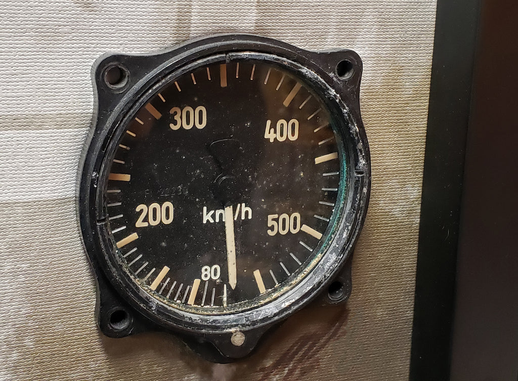 SPECIAL Luftwaffe Junkers Ju 87 G-2 Stuka Airspeed Indicator & Relic Display