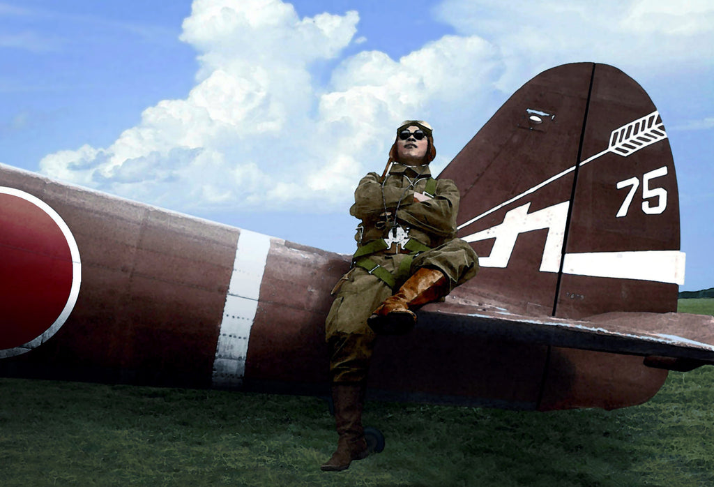 Japanese Ki-43 'Oscar' Pilot Watercolor - Cole's Aircraft - 1
