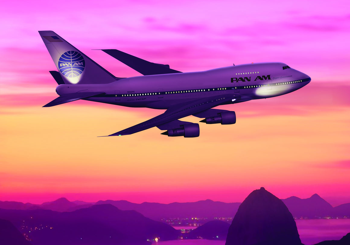 Pan Am Boeing 747 SP over Rio - Cole's Aircraft - 1