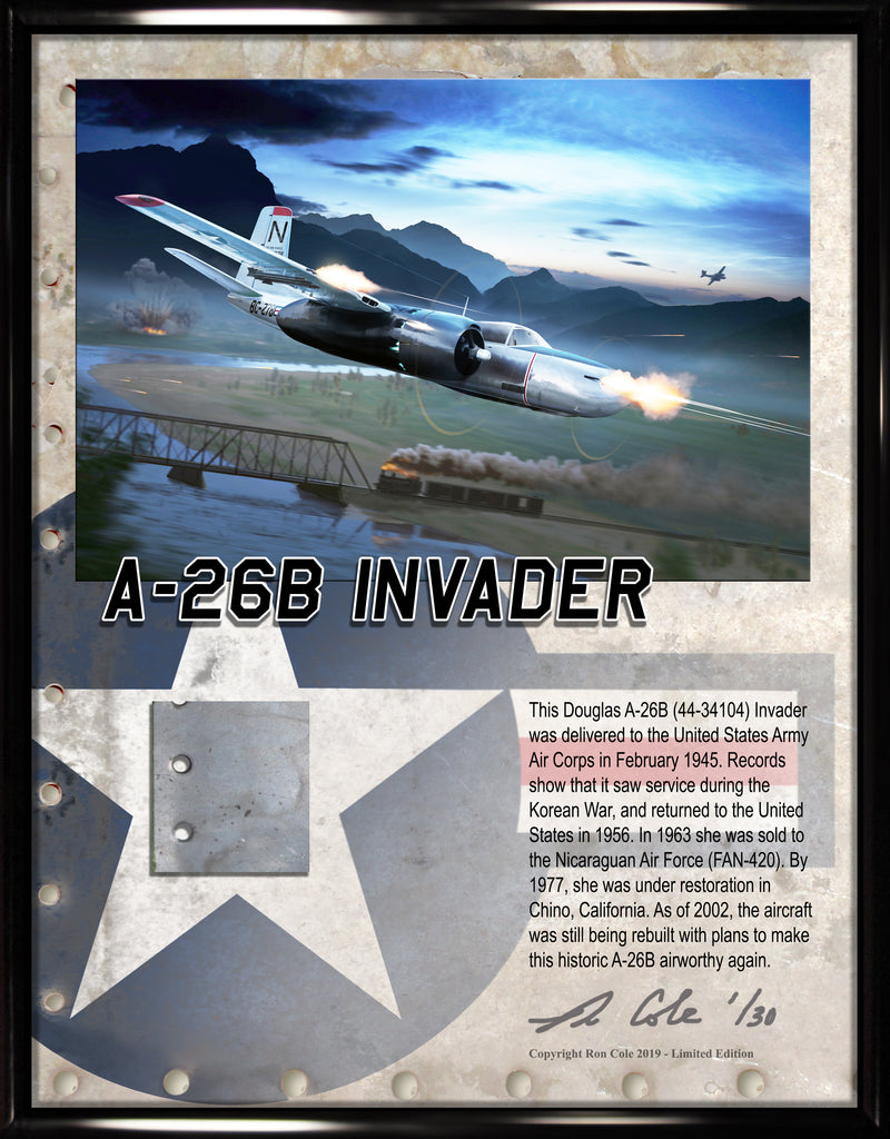 Douglas A-26 Invader Relic Display