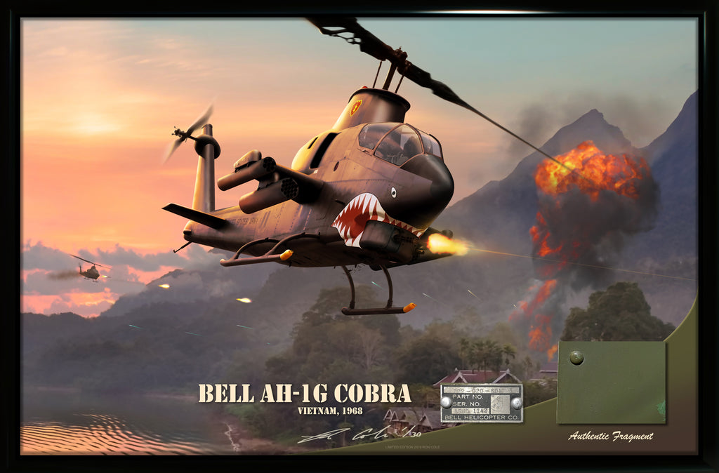 Bell AH-1G Cobra Attack Helicopter Limited Edition Relic Display