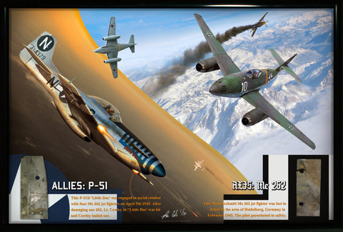 ALLIED & AXIS: P-51 Mustang & Me 262 Combat Losses Display - Cole's Aircraft