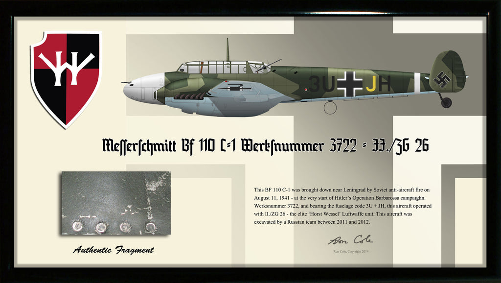 Luftwaffe Messerschmitt Bf 110 C-1 'Horst Wessel' Relic Display - Cole's Aircraft
