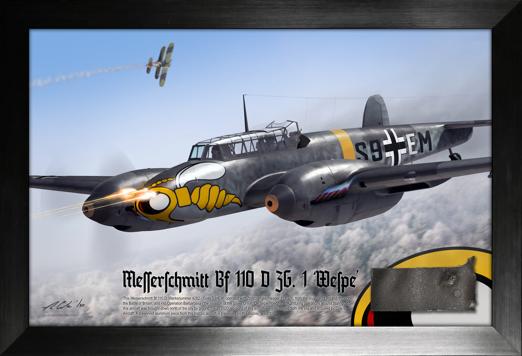 Luftwaffe Messerschmitt Bf 110 D ZG.1 'Wespe' Stalingrad Loss Relic Display