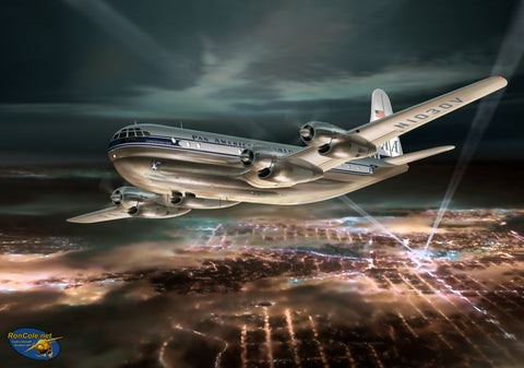 Pan Am Boeing 377 Stratocruiser over San Francisco - Cole's Aircraft - 1
