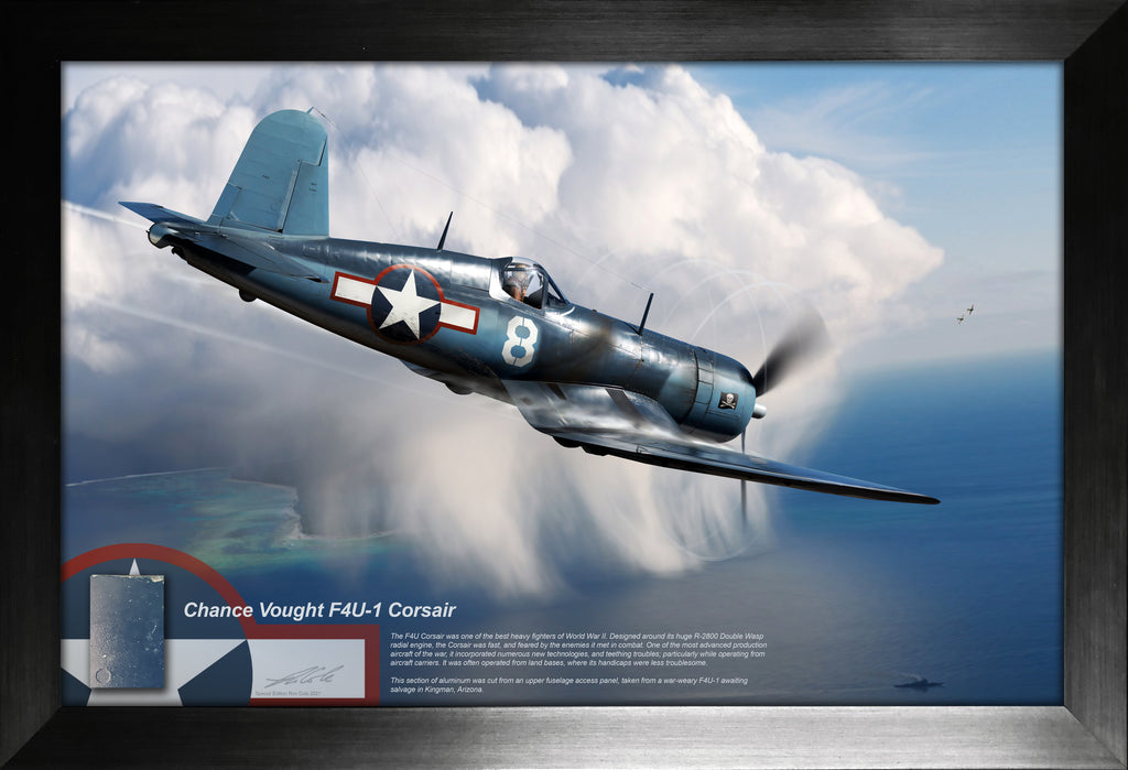 Chance Vought F4U-1 Corsair Relic Display by Ron Cole