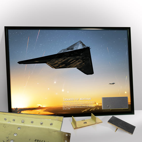 Lockheed F-117A Nighthawk Relic Display 11 x 17