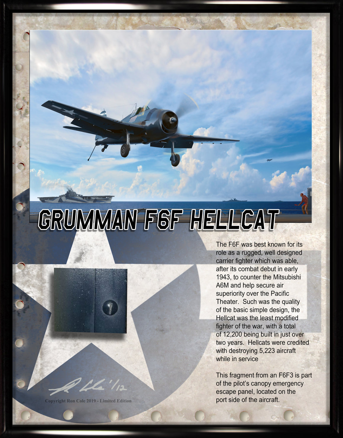 US Navy F6F-3 Hellcat Relic Display