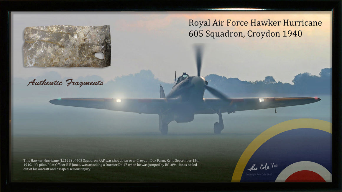 RAF Hawker Hurricane 605 Sq. Relic Display - Cole's Aircraft
