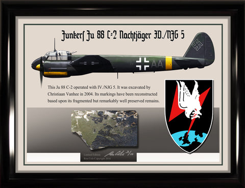 Luftwaffe Junkers Ju 88 C-2 NJG 5 Night Fighter Relic Display - Cole's Aircraft