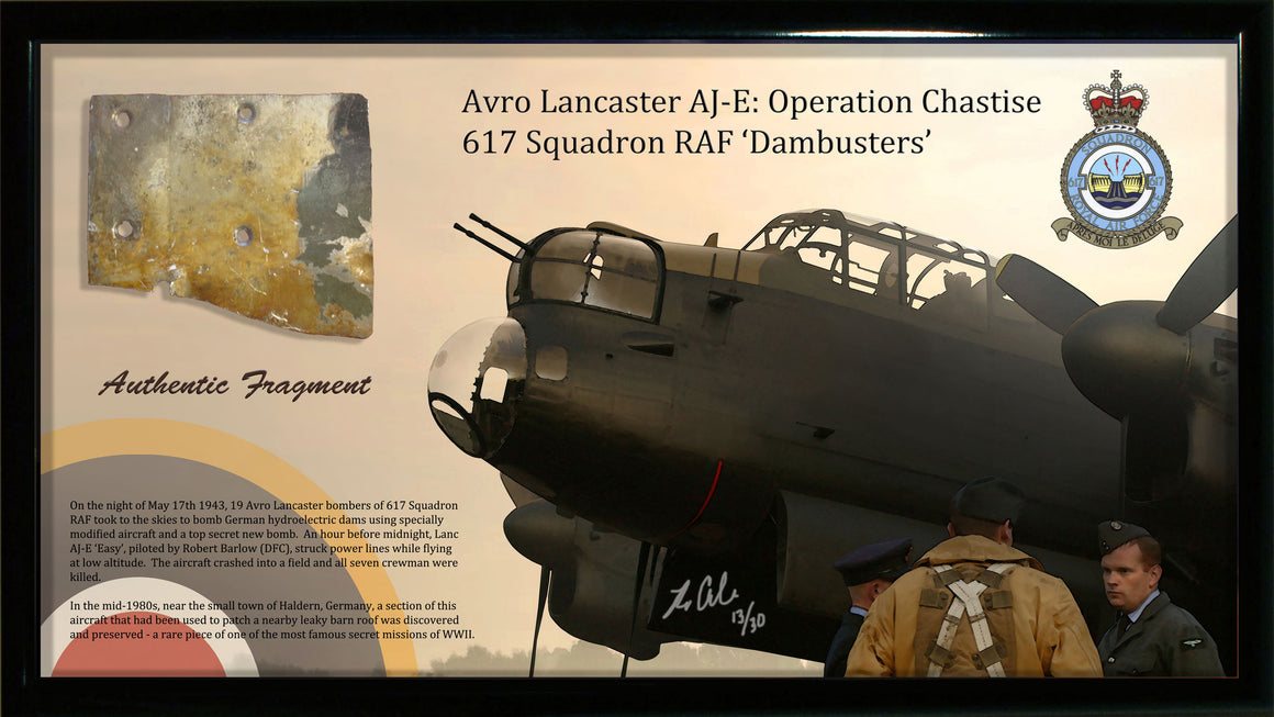 RAF Avro Lancaster Dambuster Relic Display - Cole's Aircraft