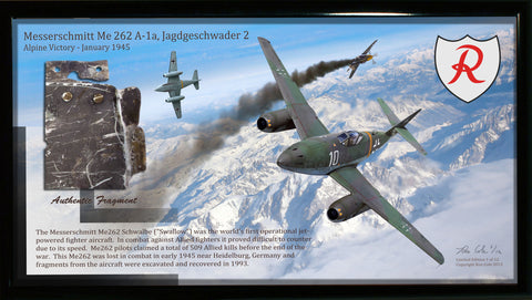 Luftwaffe Me 262 Jet Fighter Relic Display - Cole's Aircraft
