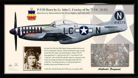 P-51D Mustang, Me 262 Combat Loss Relic Display - Cole's Aircraft