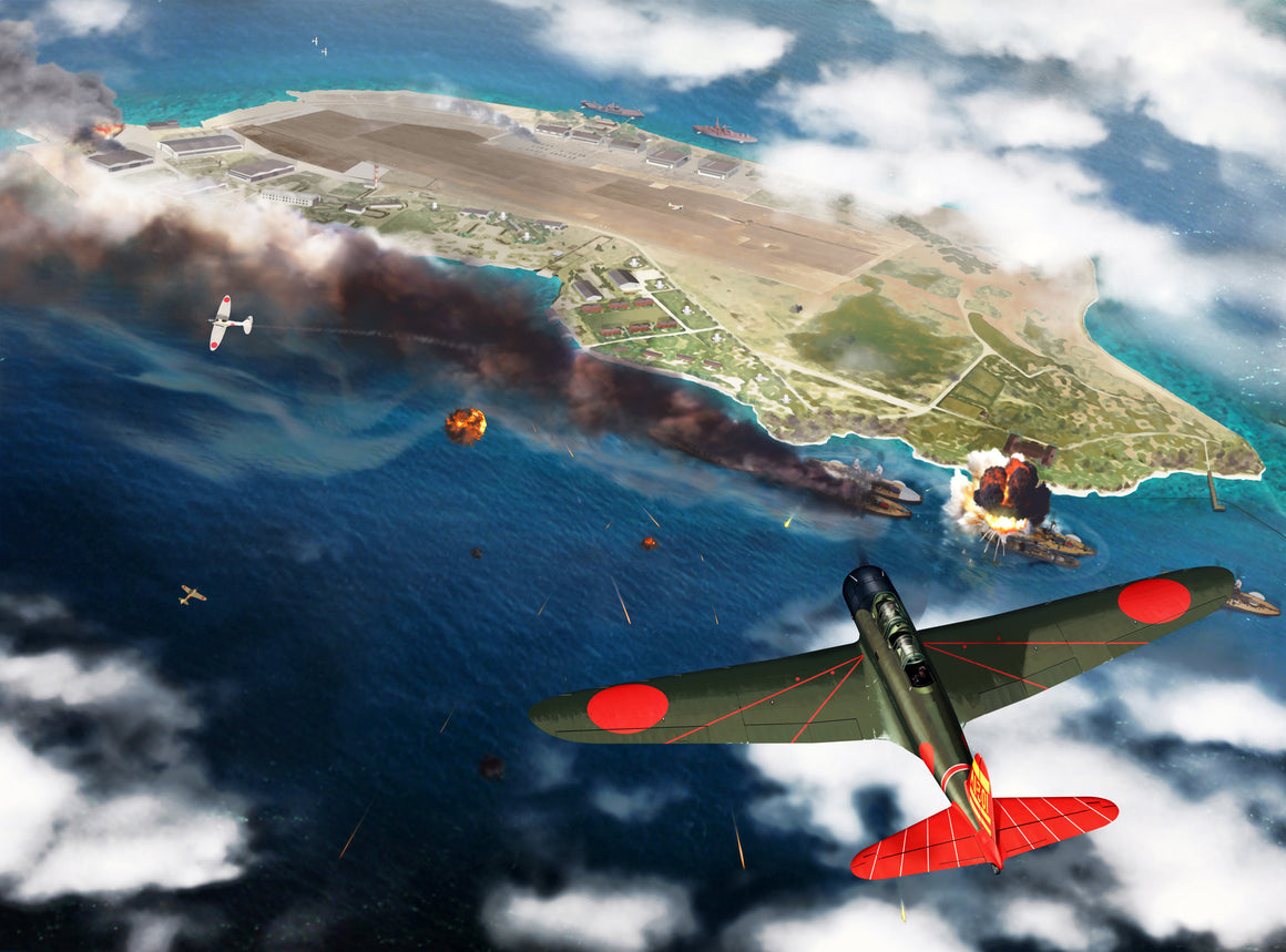 Pearl Harbor December 7th 1941: 08:12 am - Cole's Aircraft - 1