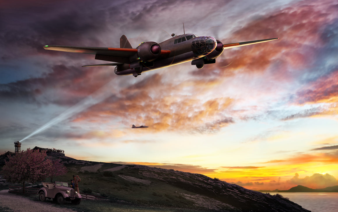 The Final Defense, Japanese Ki-67 Night Sortie Against Okinawa, by Ron Cole
