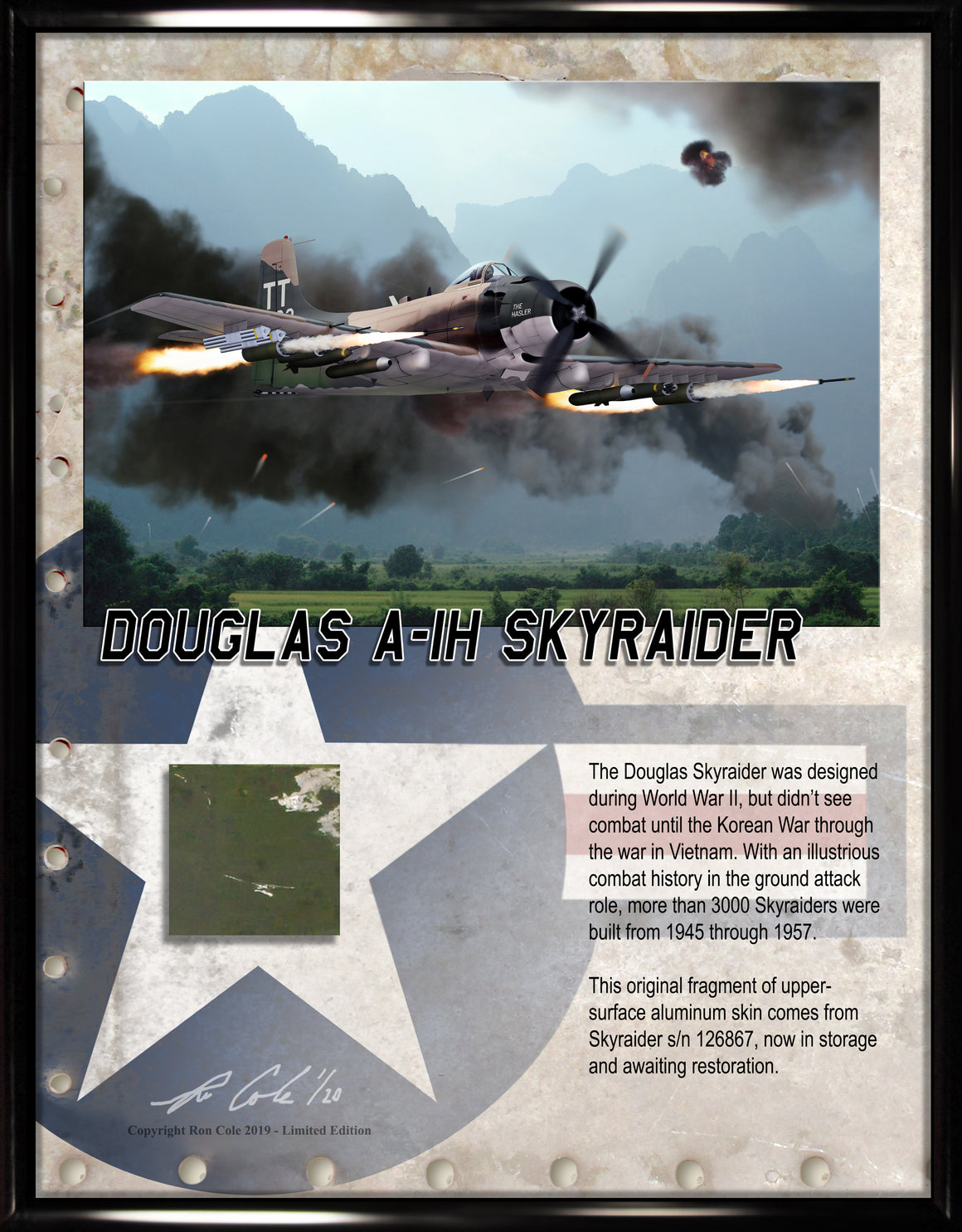 Douglas A-1 Skyraider Relic Display