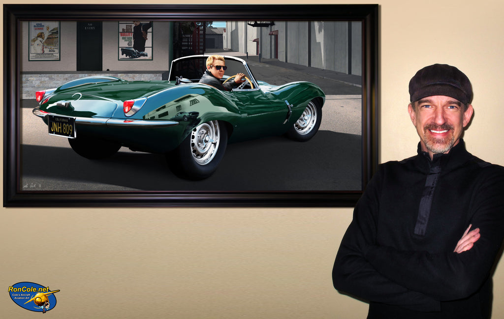 Steve McQueen 1957 Jaguar XKSS Hollywood Studio - Cole's Aircraft - 2