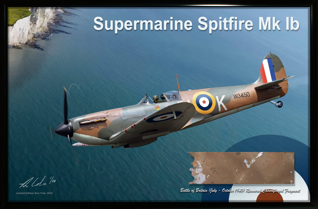 RAF Supermarine Spitfire Mk Ib Battle of Britain Camouflage Relic Display #2