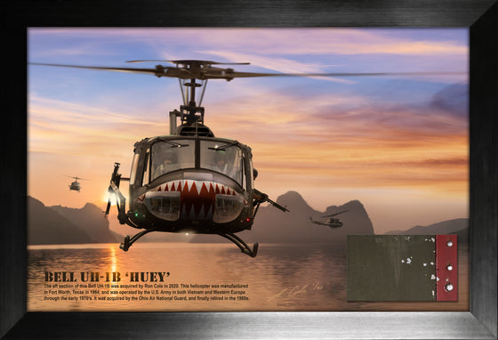 Bell UH-1B Huey US Army Vietnam Helicopter Limited Edition Relic Display