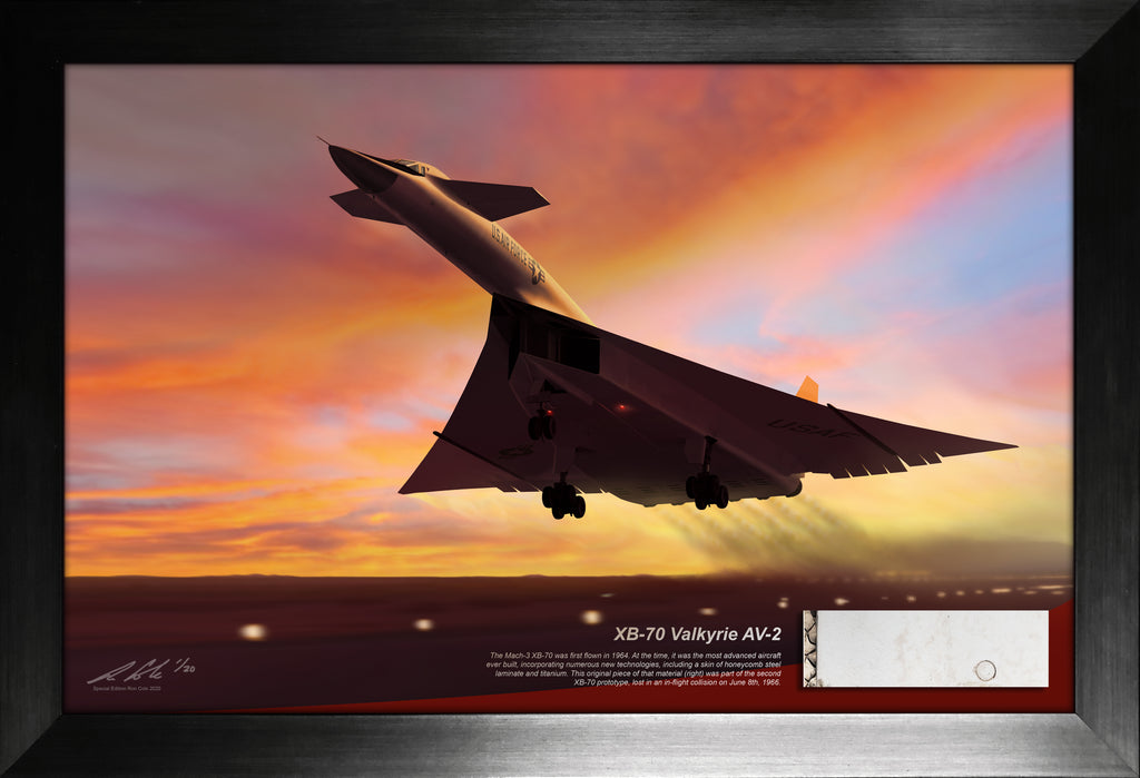 North American XB-70 Valkyrie Honeycomb Laminate Titanium Skin Relic Display
