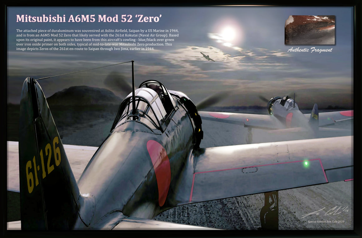 Mitsubishi A6M5 Mod. 52 Zero Fighter Relic Display